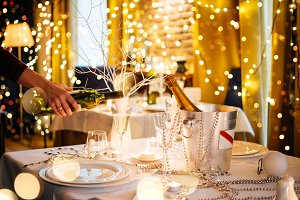 Romantic party table