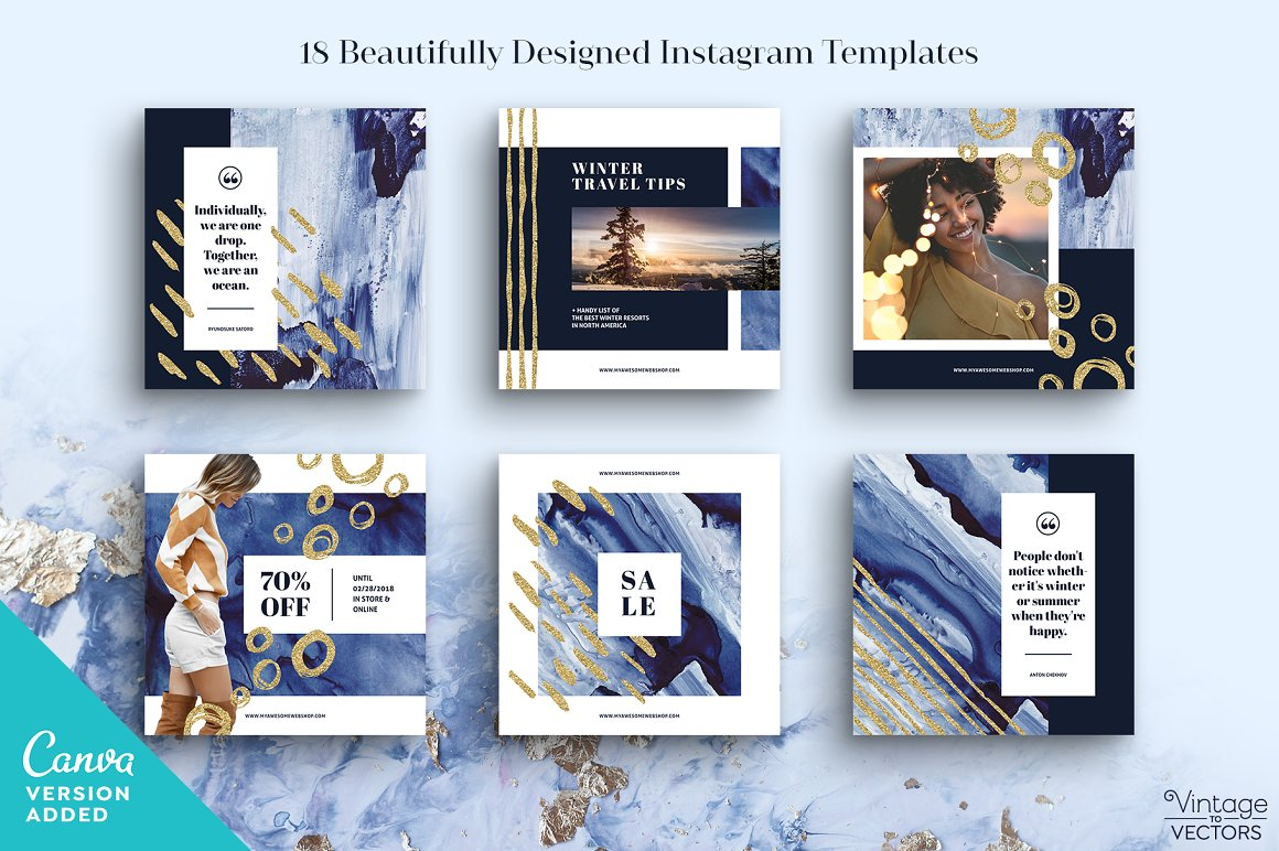 INDIGO Instagram Template Set