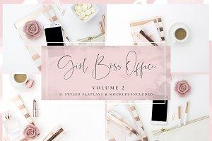 Girl Boss Office Blush & Rose Gold