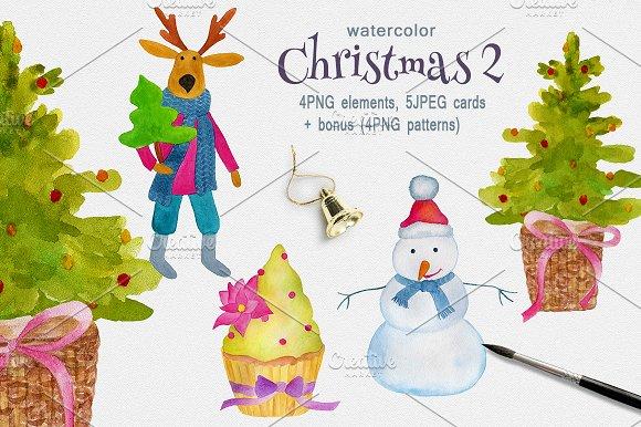Christmas watercolor 2