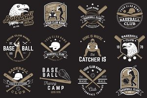 Baseball club badges