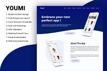 Youmi application landing page
