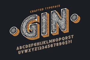 Decorative vector vintage typeface