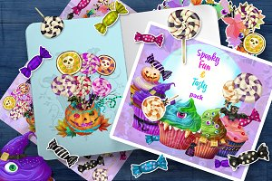 Sweet monsters clip art
