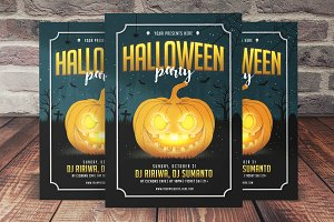 Pumpkin Halloween Party Flyer
