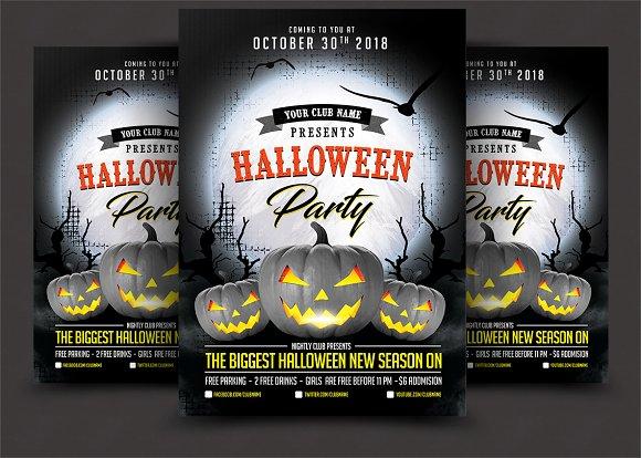 halloween flyer flyer templates creative market