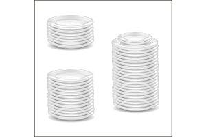 Template Blank White Dishware Mockup