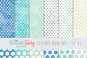 Textured Polka Dot Paper Pack Set1
