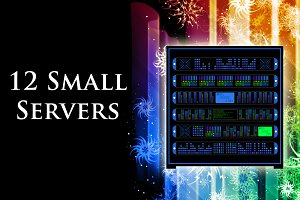 12 Servers(SVG, PNG, 3 Themes)