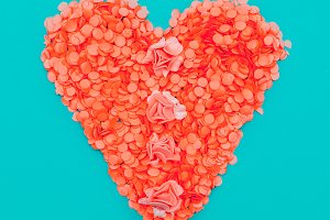 Craft paper Heart.  Candy colors con