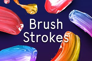 Paint Brush Strokes PNG