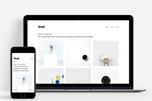 Simpl - Minimal Portfolio Theme