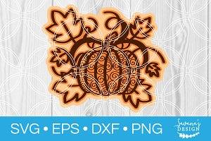 Layered Pumpkin SVG Cut File