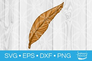 Feather SVG Cut File