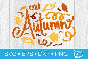 Hand Drawn Autumn SVG File