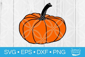 Autumn Pumpkin SVG Cut File