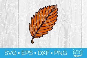 Autumn Leaf SVG Cut File