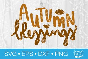 Autumn Blessings SVG Cut File