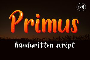Primus Font SVG handwritten script