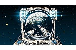 Astronaut spaceman soaring