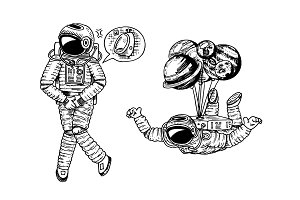 Astronaut spaceman with
