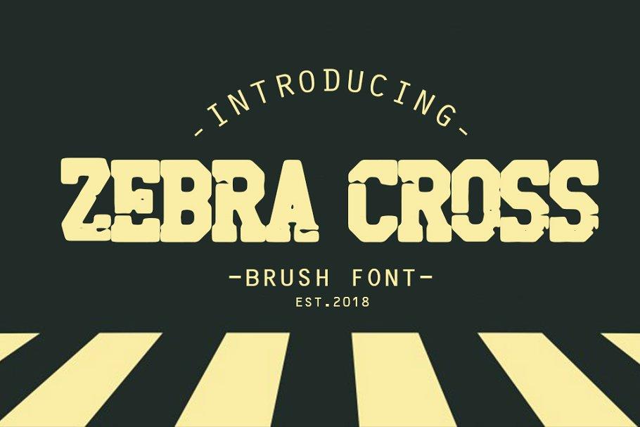 zebra cross brush font 40% off