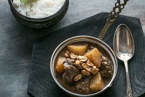Thai Beef Massaman Curry with Rice