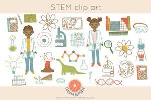 school science teacher STEM clip art