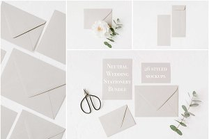 Neutral Wedding Styled Mockups