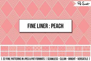 Seamless Fine Liner Peach