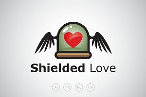 Shielded Love Logo Template