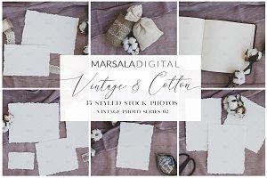 Vintage & Cotton Wedding Mockups