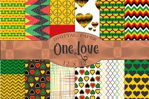 Rasta Colors Digital Paper