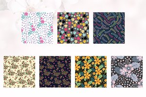7 Floral Seamless Pattern Background
