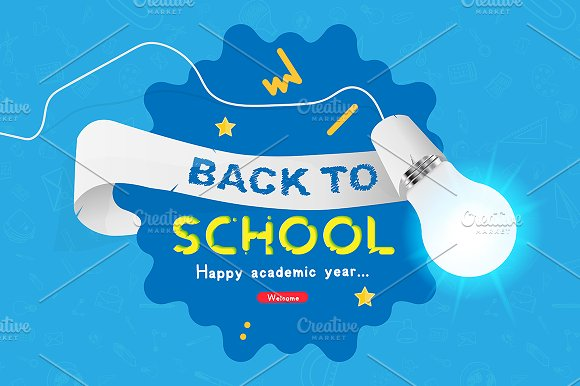 flyer for welcome back to school flyer templates creative market