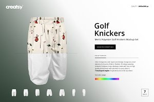 Men's Golf Knickers Mockup Set