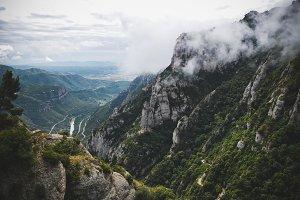 Montserrat in the clouds, Spain