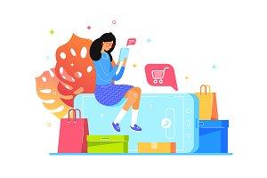 Girl buys online