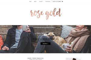 Rose Gold | Blogger template