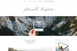 French Kisses | Blogger Template