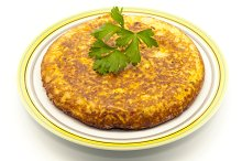 Spanish omelette with parsley