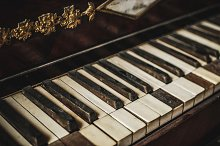 Vintage Damaged Piano Keys #2 by  in Arts & Entertainment