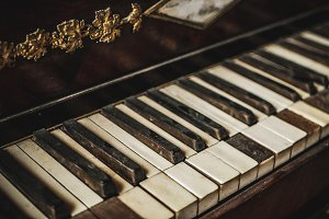 Vintage Damaged Piano Keys #2