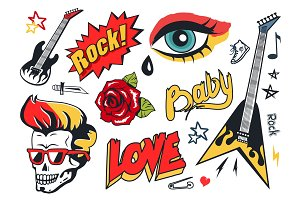 Rock and Roll Stickers Collection
