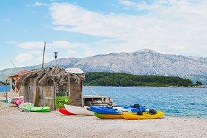 Isolated Beach Shack, Croatia