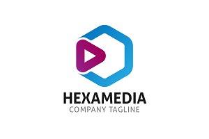 Hexa Media Cube Logo Template