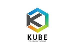 Kube K Letter Cube Logo Template