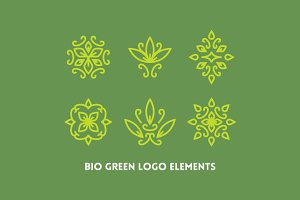 Bio Green Logo Elements