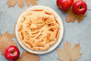 Tasty homemade season apple pie