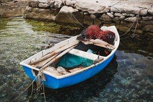 Small Fishing Boat at Port